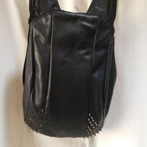 Zara Spiked faux leather backpack